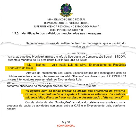 A Polícia Federal anexou na investigação mensagens de outro empreiteiro, Léo Pinheiro, da OAS.  (Foto: Reprodução)