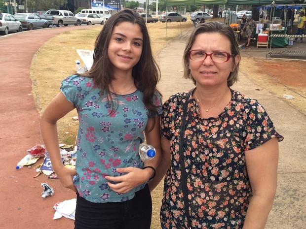 Enem 2015 - Domingo (25) - Goiânia (GO) - Beatriz Samaridi, de 15 anos, fez o exame como treineira e achou as questões de matemática difíceis (Foto: Sílvio Túlio/G1)