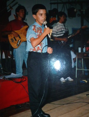 O catarinense começou a cantar aos oito anos de idade (Foto: Arquivo pessoal/Rubens Daniel)