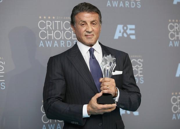 Sylvester Stallone em prêmio de cinema em Los Angeles, nos Estados Unidos (Foto: Danny Moloshok/ Reuters)