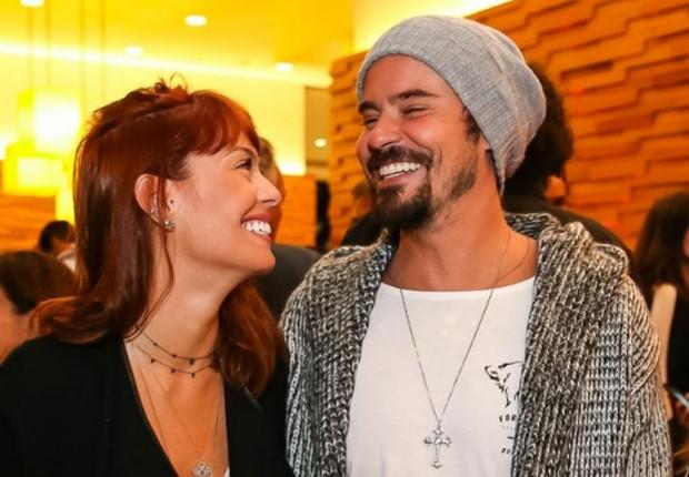 Paulo Vilhena e a namorada, Amanda Beraldi (Foto: Raphael Castello/AgNews)