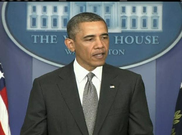 O presidente dos EUA, Barack Obama, durante pronunciamento nesta terça-feira (16) na Casa Branca (Foto: AP)