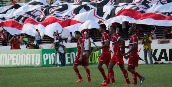 River-PI x Flamengo-PI (Foto: Emanuele Madeira )