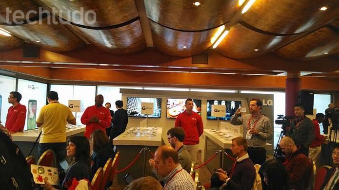 LG apresenta G Pro 2, G2 mini e nova linha L (Foto: Allan Melo / TechTudo)