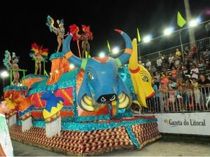 Mancha Verde é campeã do carnaval em Praia Grande, SP (Foto: Edmilson Lelo/Prefeitura de Praia Grande)