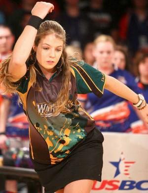 Stephanie em ação pela Webber, faculdade que defendeu por quatro anos (Foto: Arquivo Pessoal)