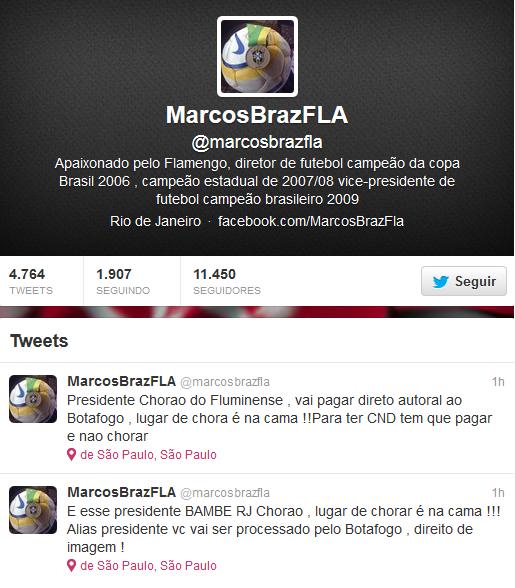 Twitter Marcos Braz (Foto: Reprodução)