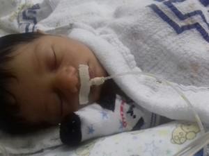 Artur nasceu com má formação no coração (Foto: Marcos Rogério/Arquivo Pessoal)