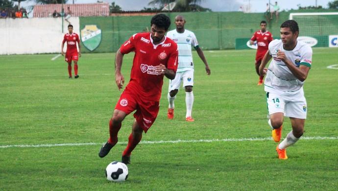 Coruripe x América-RN Copa do Nordeste - Rômulo, atacante (Foto: Canindé Pereira/América FC/ Divulgação)