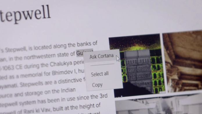 Pergunte à Cortana: função está disponível no sucessor do Internet Explorer (Foto: Reprodução/Microsoft)