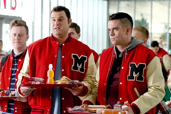 O ator Mark Salling quando ainda trabalhava em Glee (Foto: Reprodução)