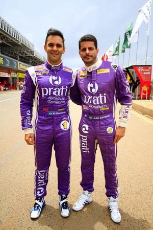 Antônio Pizzonia e Júlio Campos (Foto: Matheus Alves)
