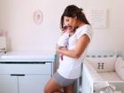 Rubia Baricelli abre o quarto da filha, Helena, e fala sobre maternidade