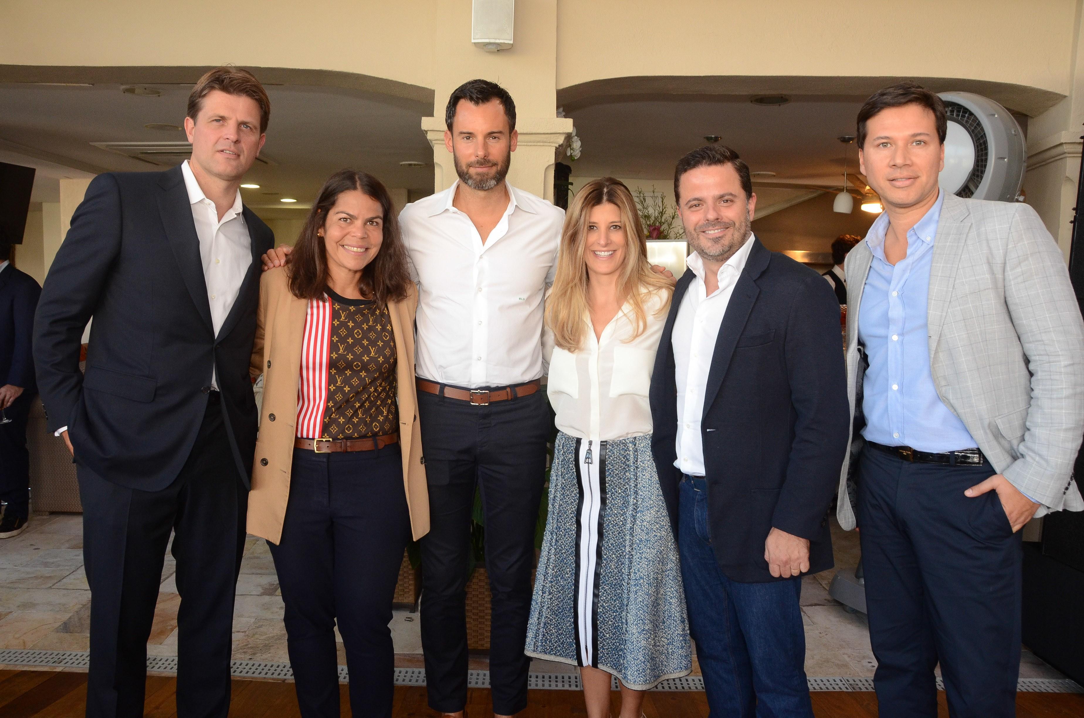 Anthony Ledru, Daniela Falcão, Benoit Louis Vuitton, Juliana e Alexandre Frota e Darlei Bittencourt   (Foto: Divulgação)