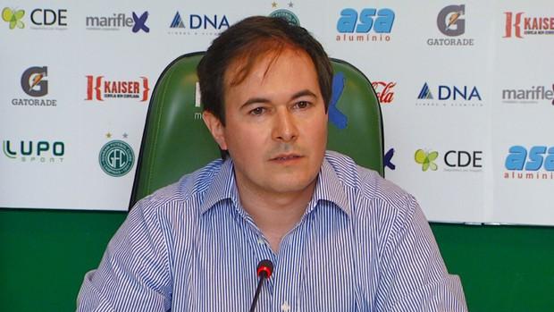 Rodrigo Ferreira da Costa e Silva, presidente interino do Guarani (Foto: Reprodução EPTV)