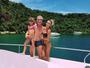 Ana Paula Siebert, Justus e a Rafinha curtem o fim de semana em Angra