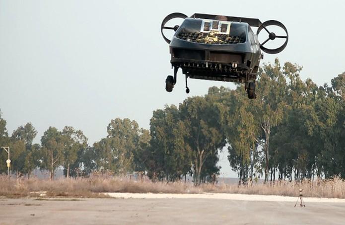 Drone pode carregar materiais e até duas pessoas  (Foto: Divulgação/Urban Aeronautics)