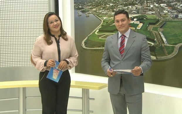 Apresentadores fazem aniversário à frente do telejornal (Foto: Bom Dia Amazônia)