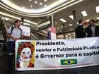 Dilma desembarca em SP sob protesto de funcionários da Infraero