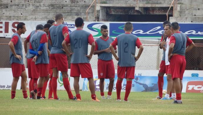 RN - Potiguar de Mossoró Bira Lopes treino Estádio Nogueirão (Foto: Marcelo Diaz/Divulgação)