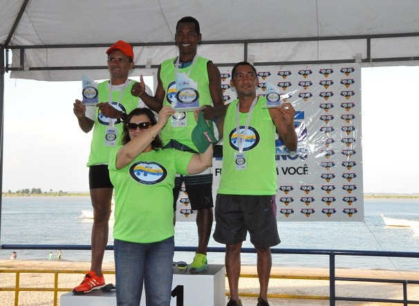 Os santarenos Orioni Jean Costa e Francinaldo Lira foram o segundo e o terceiro colocados (Foto: Priscila Miranda/ TV Tapajós)