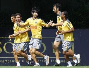 Jogadores do Santos em treinamento (Foto: Ricardo Saibun / Divulgação Santos FC)