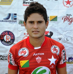 Leonardo Oliveira (Léo), 19 anos, lateral-esquerdo Rio Branco (Foto: Duaine Rodrigues)