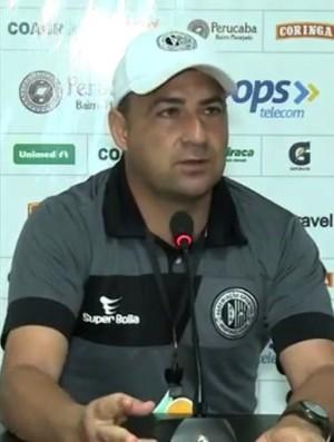 Paulo Foiani, técnico do ASA (Foto: Reprodução/TV Gazeta)