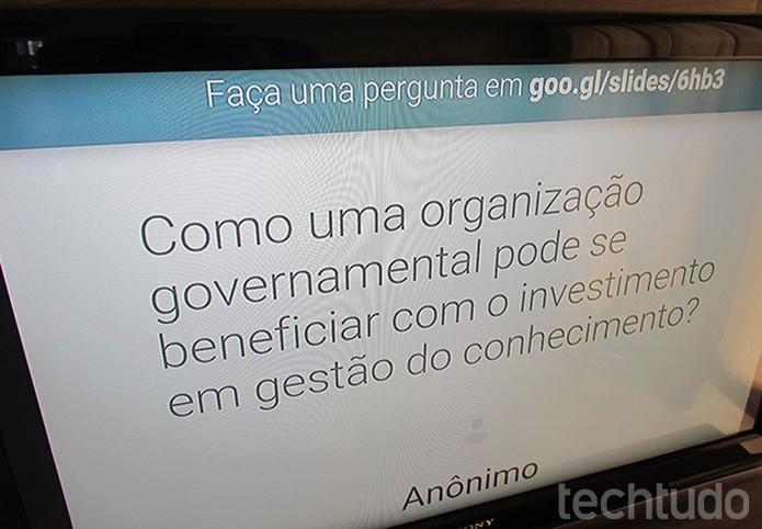 Veja perguntas da plateia na TV com o Chromecast (Foto: Paulo Alves/TechTudo )