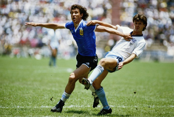 Steve Hodge Inglaterra x Argentina 1986 (Foto: Getty Images)