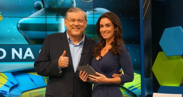 Milton Neves e Larissa Erthal (Foto: Divulgação)