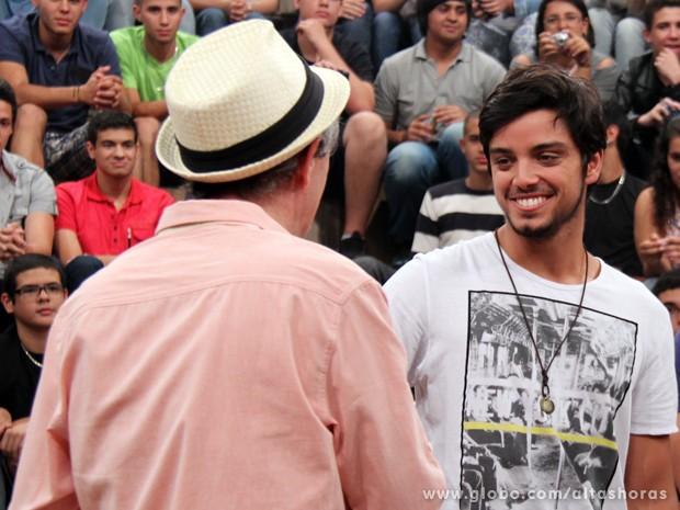 Rodrigo Simas participa do programa Altas Horas deste sábado (Foto: TV Globo/Altas Horas)