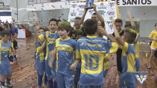 Objetivo Santos e Lupe Picasso são os campeões da 14ª Copa de Futsal
