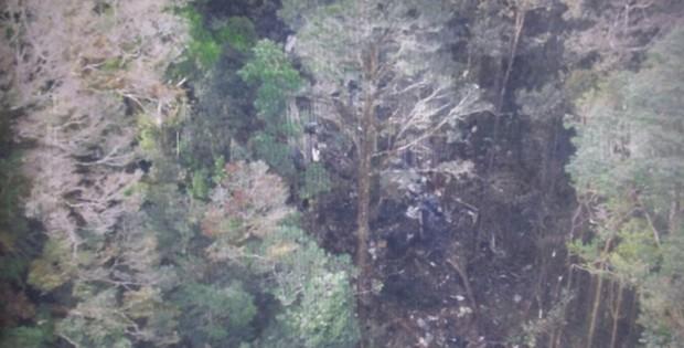Região onde foram encontrados destroços é coberta por uma vegetação densa 2  (Foto: Basarnas/ Divulgação)
