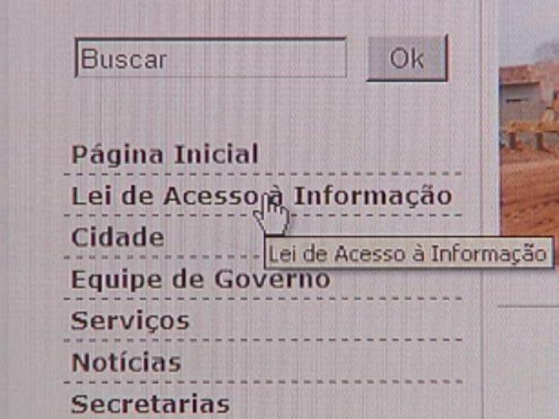 Salários dos servidores está disponível no site da prefeitura  (Foto: reprodução/TV Tem)