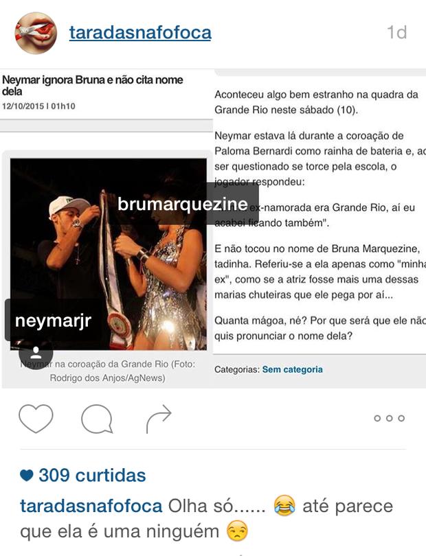 Neymar na coração da Grande Rio (Foto: Instagram / Reprodução)