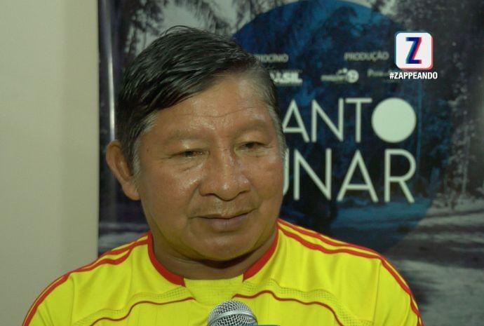 Tuchaua da tribo, Domingos Sávio, participa do filme (Foto: Zappeando)