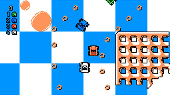 Micro Machines tinha uma abordagem mais divertida para corridas (Foto: The Video Game Critic)