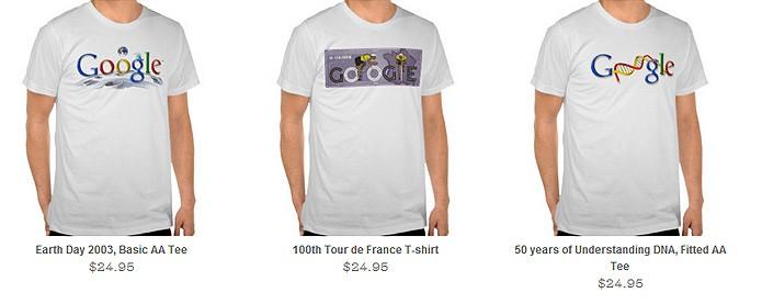 As ilustrações do Doodle viram produtos como camisetas em uma loja virtual (Foto: Reprodução/Karla Soares)