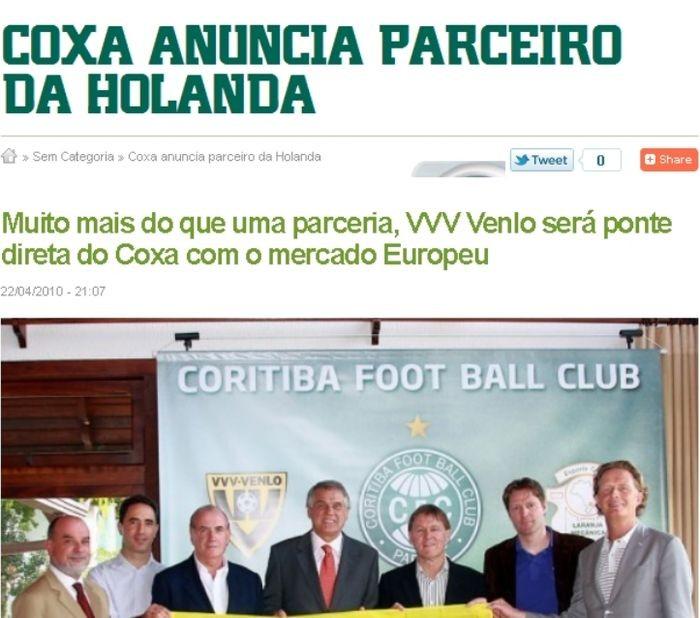 Blog Torcida Coritiba -  VVV Venlo