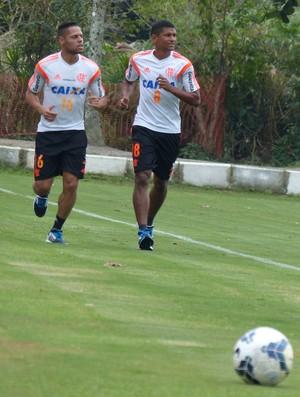 João Paulo e Márcio Araújo Flamengo (Foto: Cahê Mota)