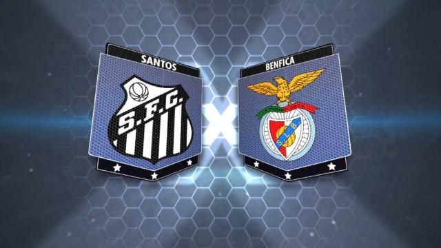Santos e Benfica: você acompanha esse jogão neste sábado (8) (Foto: Reprodução/TV Tribuna)