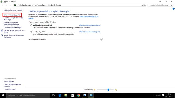 Modo de Hibernação pode ser encontrado nas opções de energia do Windows 10 (Foto: Reprodução/Elson de Souza)