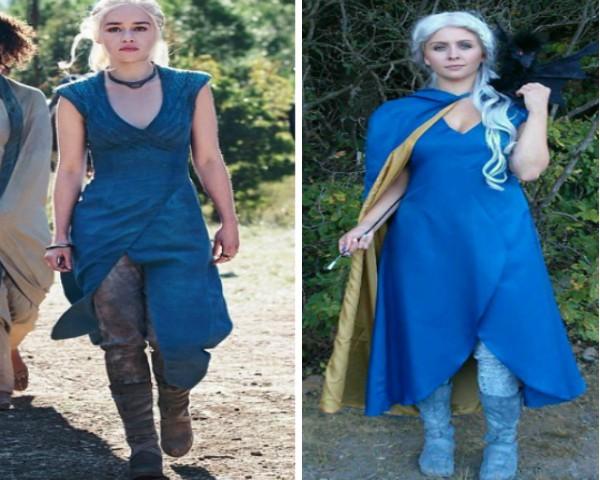 Daenerys Targaryen inspira internauta para festa à fantasia (Foto: Reprodução / Instagram)