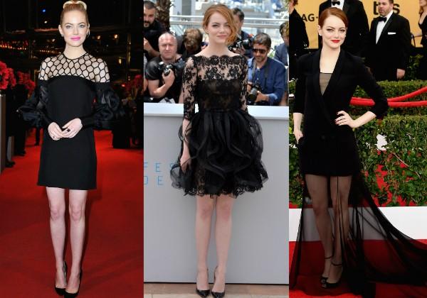 A atriz já apareceu em vários eventos usando preto (Foto: Getty Images)