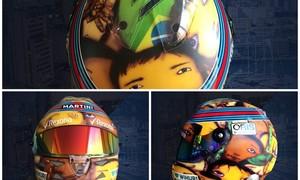 Massa, Vettel e Alonso usam capacetes especiais  (Divulgação)