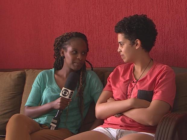 PREP_ Monique entrevista Bárbara  (Foto: TV Globo)