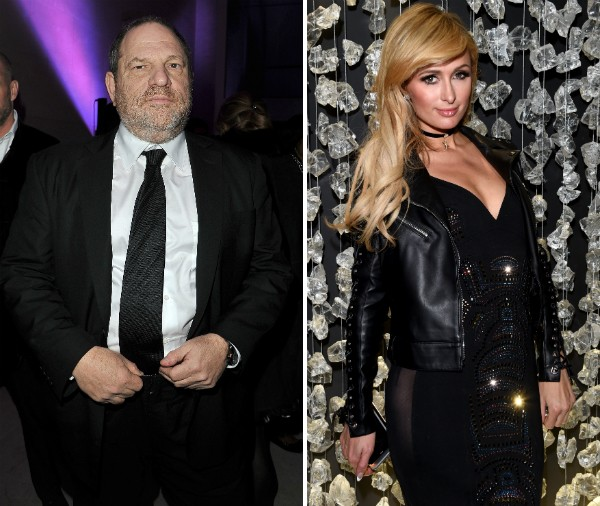 O empresário Harvey Weinstein e a socialite Paris Hilton (Foto: Getty Images)