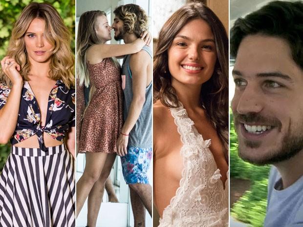 Bianca Bin, Brenno Leone e a namorada, Isis Valverde e Marco Pigossi estrelaram os conteúdos especiais do Gshow (Foto: Gshow)