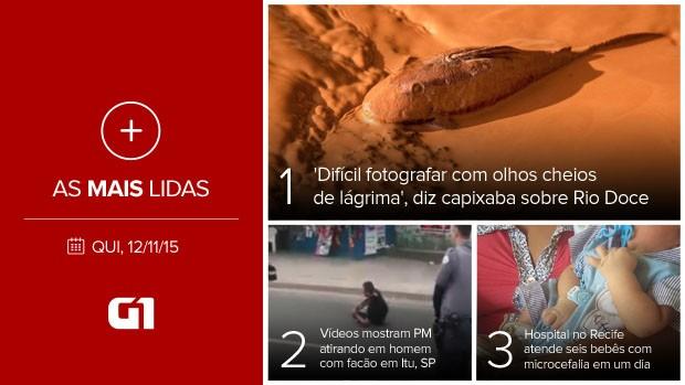 Mais lidas (Foto: Editoria de Arte/G1)